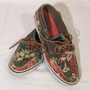 Sperry Todsiders Tropical Print Shoes